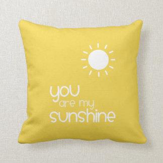 Coussin Vous êtes mon jaune de soleil