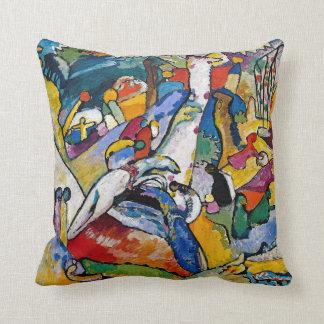 Coussin Wassily Kandinsky - art abstrait de la composition