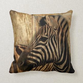 Coussin zèbre rustique d'animal de safari de l'Afrique de