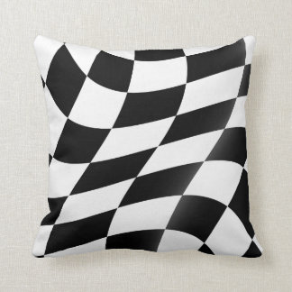 Coussins Checkered de jet de drapeau