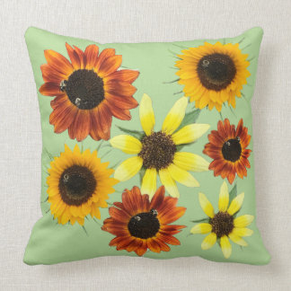 Coussins colorés de photos de fleurs de tournesols