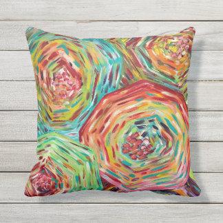 Coussins colorés lumineux d'oreiller extérieur