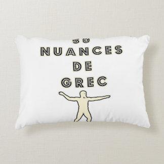 Coussins Décoratifs 50 NUANCES DE GREC - Jeux de Mots - Francois Ville