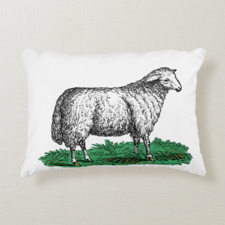 Coussins Décoratifs Animaux de ferme vintages de brebis de moutons