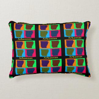 Coussins Décoratifs Art de bruit coloré de silhouette de carte de