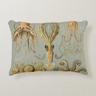 Coussins Décoratifs Art de poulpe et de calmar d'impression d'Ernst