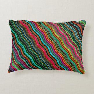 Coussins Décoratifs Beau motif onduleux coloré de rayure
