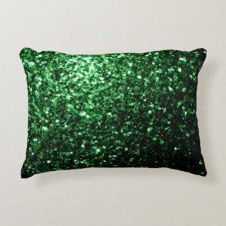 Coussins Décoratifs Belles étincelles de scintillement de vert de