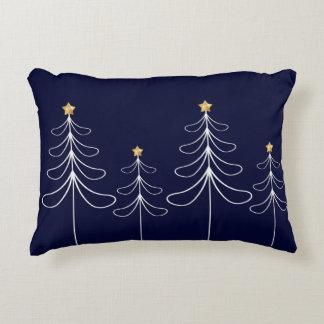 Coussins Décoratifs Bleu minimaliste élégant de conception d'arbre de