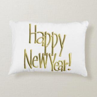Coussins Décoratifs Bonne année - texte d'or (ajoutez la couleur