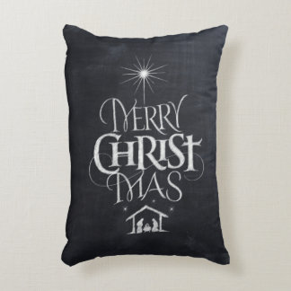 Coussins Décoratifs Calligraphie religieuse de tableau de Joyeux Noël