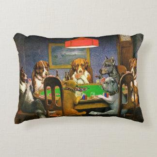 Coussins Décoratifs Chiens jouant au poker, coussin, art par Coolidge