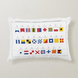 Coussins Décoratifs Code international d'alphabet de signaux