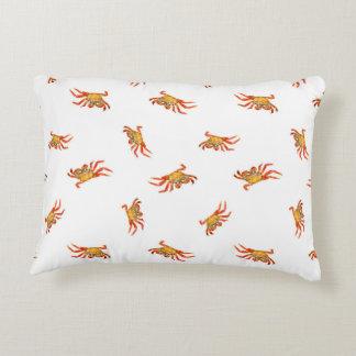 Coussins Décoratifs Conception de motif de collage de photo de crabes