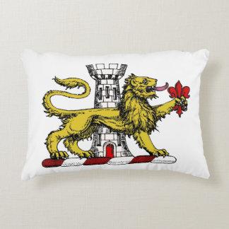 Coussins Décoratifs Emblème C de Tower Fleur de Lis Crest de lion