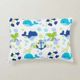 Coussins Décoratifs Enfants nautiques de motif de marine de vert de