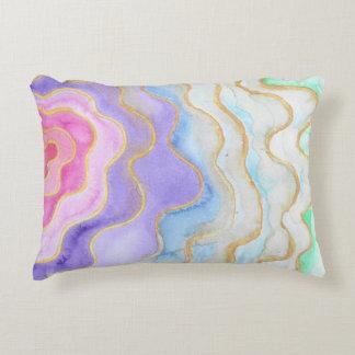 Coussins Décoratifs Geode pour aquarelle multicolore