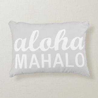 Coussins Décoratifs Hawaïen en pastel léger de typographie de Mahalo