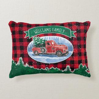 Coussins Décoratifs Le camion vintage de Noël ajoutent le nom