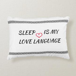 Coussins Décoratifs Le sommeil est ma langue d'amour