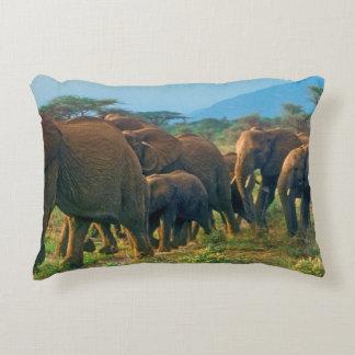 Coussins Décoratifs Marche de troupeau d'éléphant