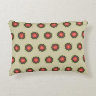 Coussins Décoratifs Motif de point de polka - couleurs de tomate