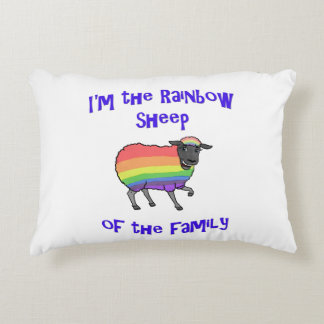 Coussins Décoratifs Moutons d'arc-en-ciel de la famille