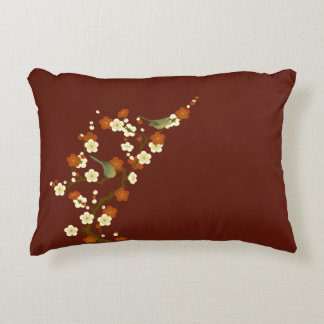 Coussins Décoratifs Oiseau chanteur vert doux de ressort japonais