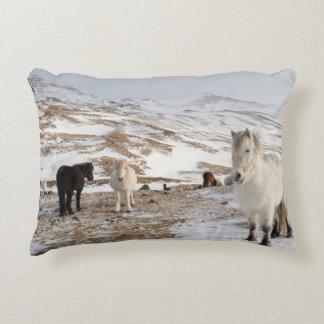 Coussins Décoratifs Paysage avec les chevaux islandais