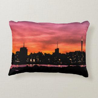Coussins Décoratifs Scène de coucher du soleil de paysage urbain,