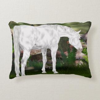 Coussins Décoratifs Scène renversante d'imaginaire de cheval blanc