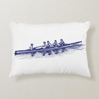 Coussins Décoratifs Sports aquatiques bleus d'équipe d'équipage de