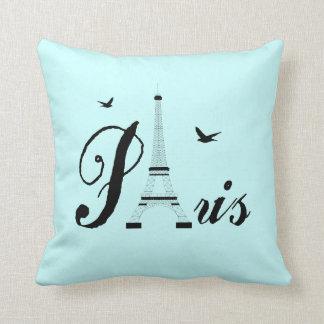 Coussins d'image de noir bleu d'Aqua de Paris de