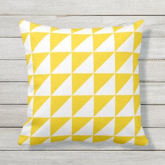 Coussins extérieurs jaunes de soleil - motif de oreiller