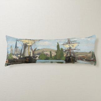 Coussins Longs Bateaux de Claude Monet | montant sur la Seine à