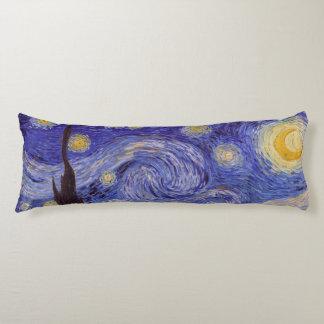 Coussins Longs Beaux-arts de cru de nuit étoilée de Vincent van