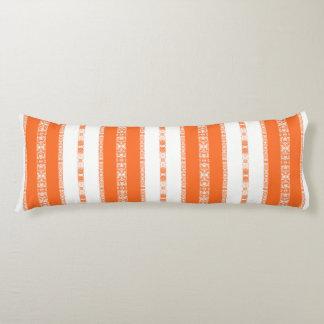 Coussins Longs blanc orange