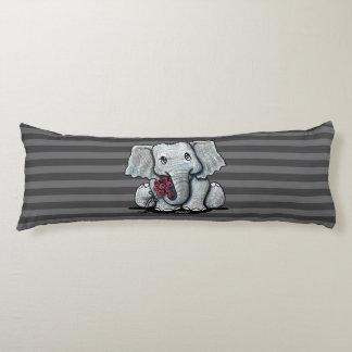 Coussins Longs Éléphant de KiniArt barré