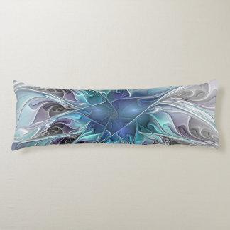 Coussins Longs Fleur moderne abstraite de fractale de Flourish
