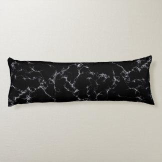 Coussins Longs Marbre élégant style4 - noir et blanc