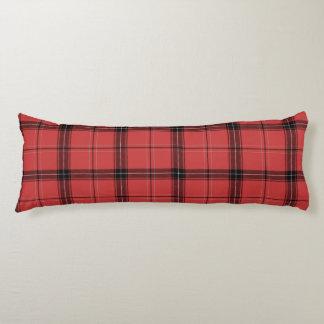 Coussins Longs Motif Checkered rouge et noir de tartan de plaid