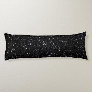 Coussins Longs Parties scintillantes Stars2 - Noir argenté
