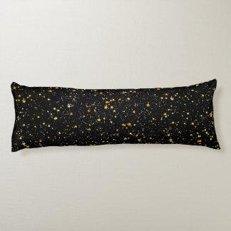 Coussins Longs Parties scintillantes Stars3 - Noir d'or