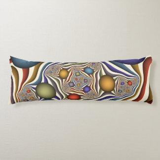 Coussins Longs Volant, art abstrait moderne coloré de fractale