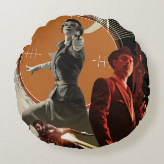 Coussins Ronds Agent Carter et collage rigide de Howard
