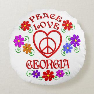Coussins Ronds Amour la Géorgie de paix