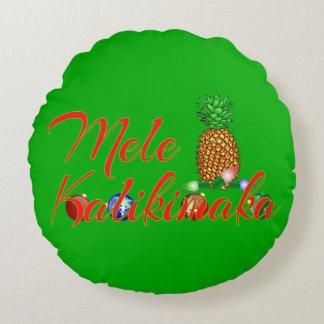 Coussins Ronds Ananas de Hawaïen de Mele Kalikimaka