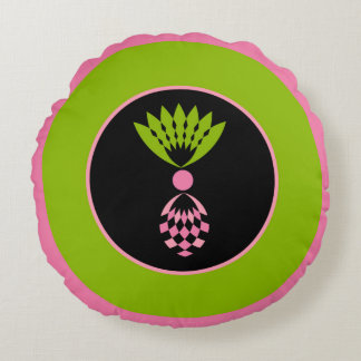 COUSSINS RONDS ANANAS ROSE TROPICAL CHIC DU ROND PILLOW_MOD