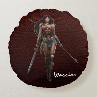 Coussins Ronds Art comique Bataille-Prêt de femme de merveille