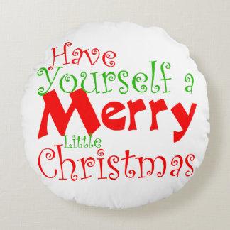 Coussins Ronds Ayez vous-même des vacances de Joyeux Noël